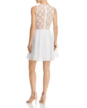 SAU LEE - Rylee Embroidered Fit-and-Flare Dress