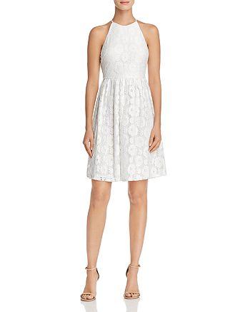 AQUA - High-Neck Lace Dress - 100% Exclusive