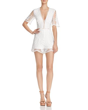 Blu Pepper - Embroidered Romper
