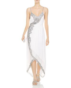 Haute Hippie Soleil Beaded Faux-Wrap Maxi Dress 2978565