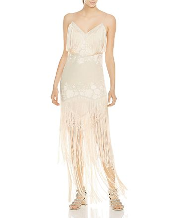 abe33e3b7a74 Haute Hippie Grandeur Fringed Embroidered Gown | Bloomingdale's
