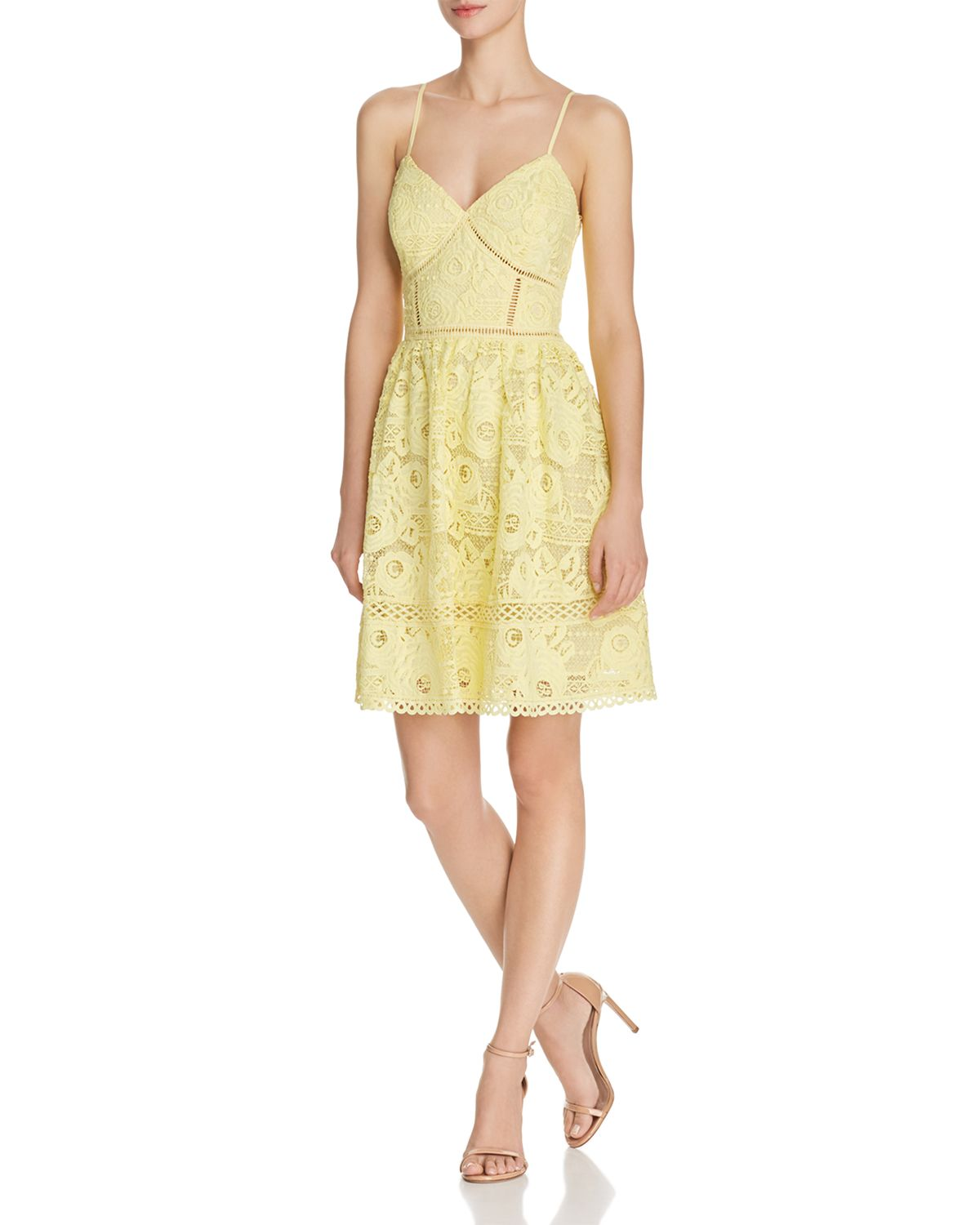 Rose Lace Fit And Flare Dress   100 Percents Exclusive by Vince Camuto Petites