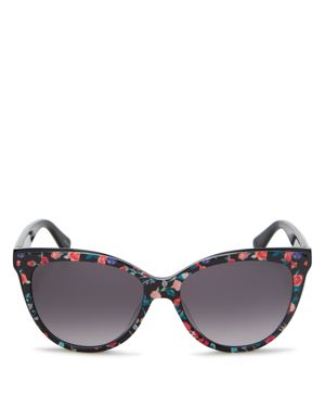 kate spade new york Women's Daesha Floral Gradient Round Sunglasses, 56mm