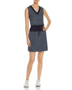 Kenneth Cole Sleeveless Striped Drawstring Dress 2977807