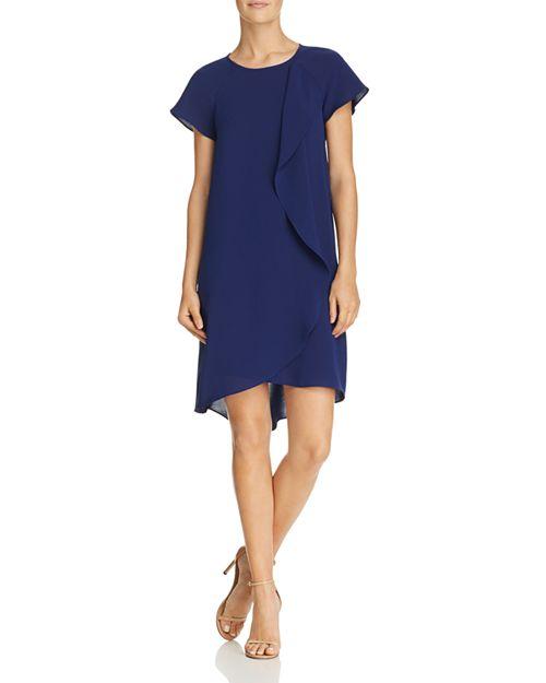 Adrianna Papell - Draped Overlay Dress