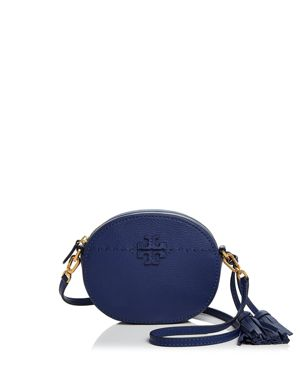Tory Burch McGraw Round Leather Crossbody 2840562