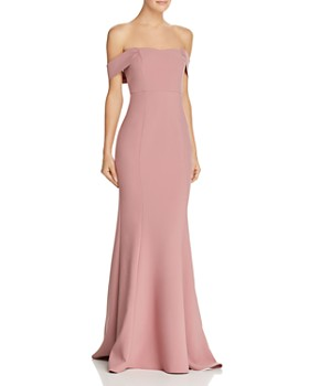 LIKELY - LIKELY Bartolli Off-the-Shoulder Mermaid Gown