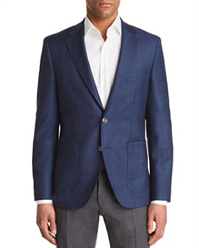 BOSS - Janson Regular Fit Tonal Windowpane Sport Coat
