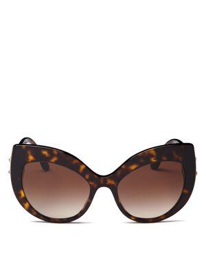 Dolce & Gabbana Women's Embellished Oversized Cat Eye Sunglasses, 58mm