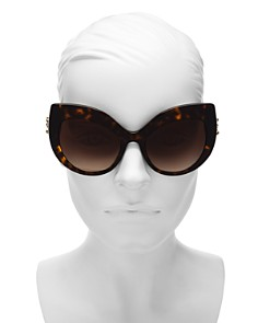 Dolce&Gabbana - Women's Embellished Oversized Cat Eye Sunglasses, 58mm