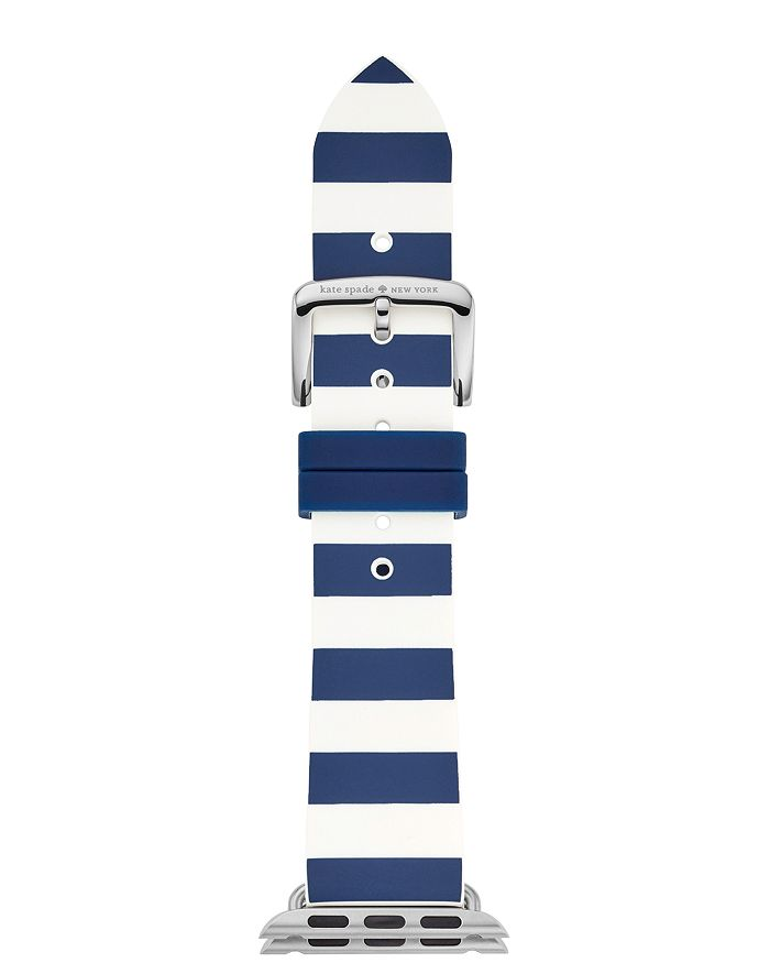 kate spade new york - Apple Watch® Striped Silicone Strap, 38mm