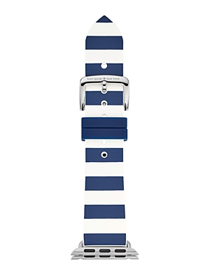 kate spade new york Apple Watch Striped Silicone Strap, 38mm
