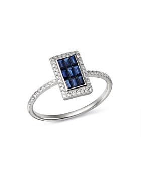 KC Designs - 14K White Gold Mosaic Illusion Sapphire & Diamond Ring