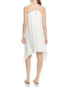 HALSTON HERITAGE - Smocked Asymmetric Dress