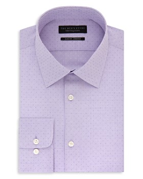 The Men's Store at Bloomingdale's - Micro Squares Slim Fit Stretch Dress Shirt - 100% Exclusive