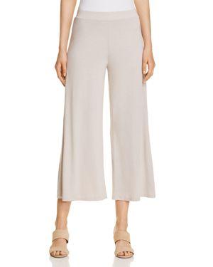 Three Dots Jersey Wide-Leg Pants