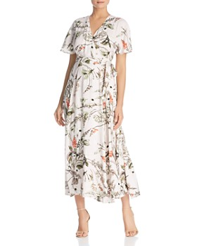 Elan - Botanical Maxi Wrap Dress