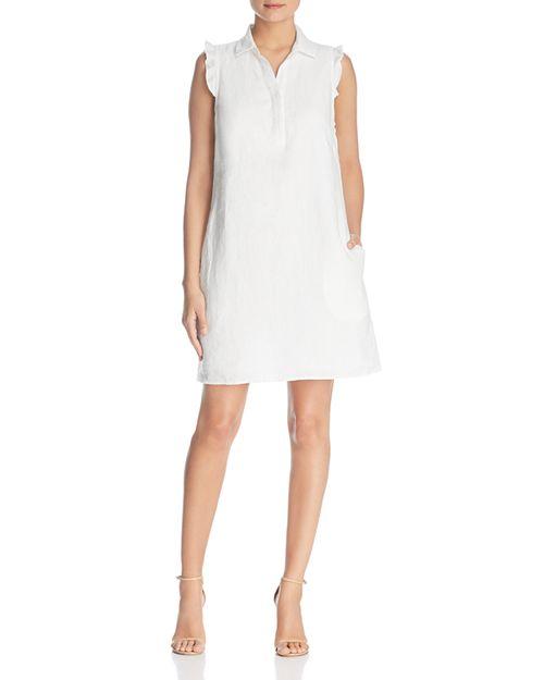 BeachLunchLounge - Linen Flutter Shirt Dress