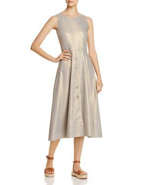 Donna Karan New York Metallic Flared Midi Dress