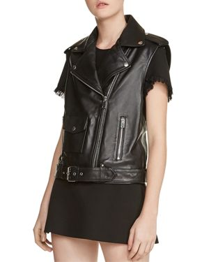 Baldwin Belted Leather Moto Vest