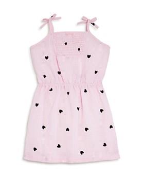 Design History - Girls' Seersucker Heart-Print Dress - Little Kid