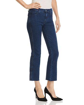 J Brand - Selena Mid Rise Crop Bootcut Jeans in Caspian