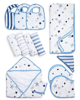 Aden and Anais - Rock Star Swaddles, Bibs, Hooded Towel & Blanket