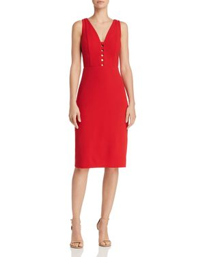 Laundry by Shelli Segal Caged Crepe Sheath Dress - 100% Exclusive 2991259