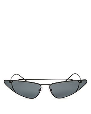 Prada Women's UltraVox Slim Brow Bar Cat Eye Sunglasses, 68mm