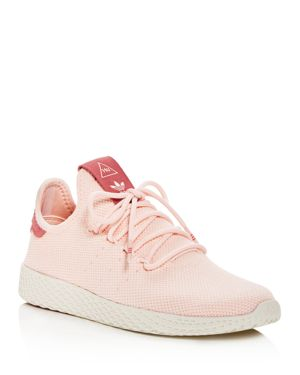 Women'S Originals Pharrell Williams Tennis Hu Casual Shoes, Pink, Icey Pink/Chalk White