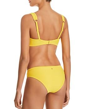 Dolce Vita - Snap-Front Ribbed Bralette Bikini Top & Ribbed Bikini Bottom