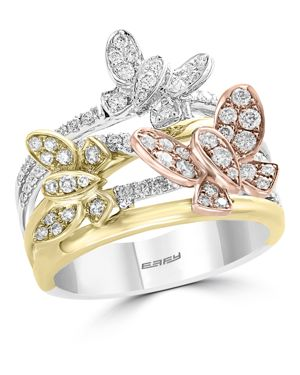 Bloomingdale's Diamond Butterfly Ring in 14K Rose, Yellow & White Gold, 0.80 ct. t.w. - 100% Exclusi
