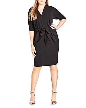 City Chic Plus Tie Front Dress