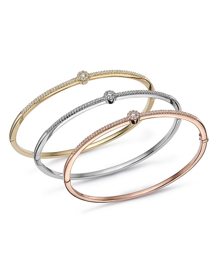 Bloomingdale's - Diamond Single Station Bangle in 14K Gold, 0.33 ct. t.w. - 100% Exclusive