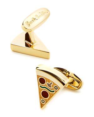 PAUL SMITH Pizza Slice Golden Cufflinks, Blue