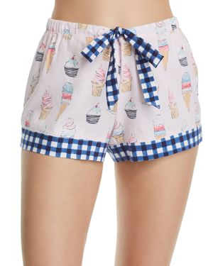 JANE & BLEECKER NEW YORK WOVEN PJ SHORTS