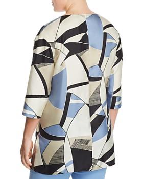 6860c27ceb ... Marina Rinaldi - Farsetto Abstract Print Silk Top