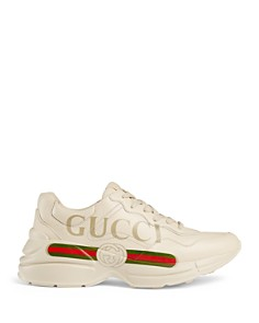 Gucci - Women's Rhyton Leather Logo Sneakers