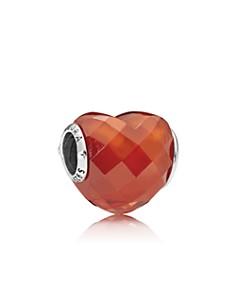 PANDORA Sterling Silver & Cubic Zirconia Orange Shape of Love Charm - Bloomingdale's_0