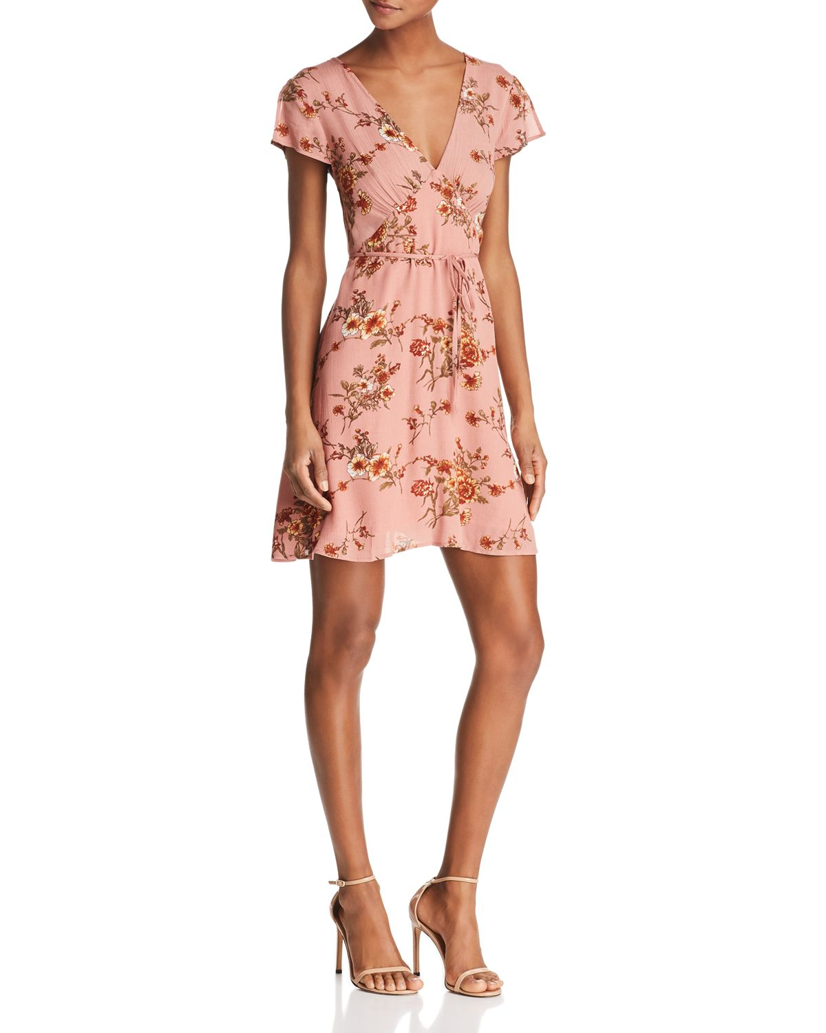 Kelsi Floral Belted Dress by Re:Named