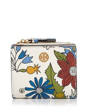 Tory Burch Robinson Mini Floral Leather Wallet 2985056