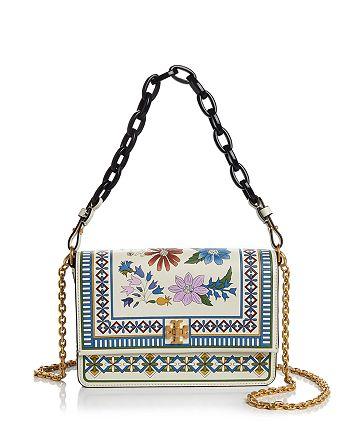 7ebc1ec02ca Tory Burch - Kira Floral Leather Shoulder Bag