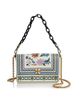 Tory Burch Kira Floral Leather Shoulder Bag 2983192