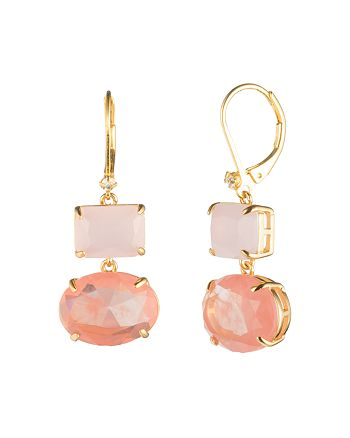 Carolee - Gold Rectangle Drop Earrings