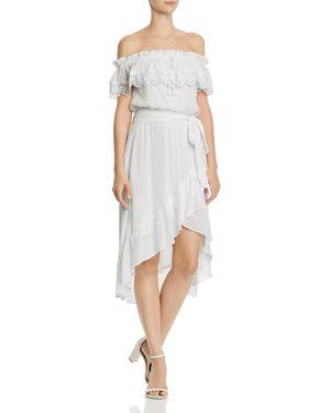 Aqua Swiss Dot Off-the-Shoulder Dress - 100% Exclusive 2996281