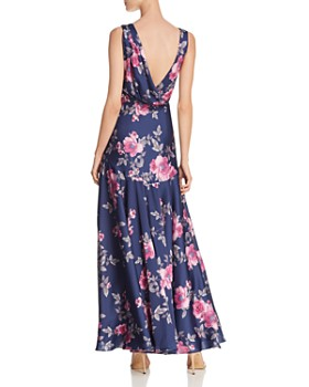 Fame and Partners - Makayla Floral Satin Gown - 100% Exclusive