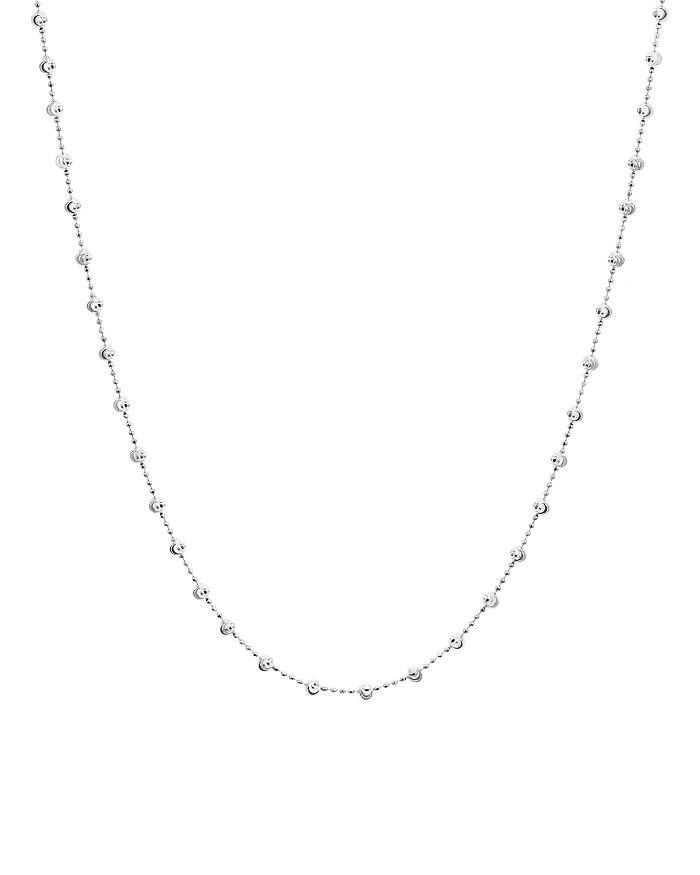 "Officina Bernardi - Moon Bead Chain Necklace, 16"""