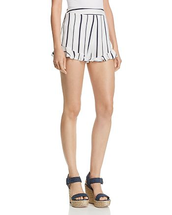 Blu Pepper - Striped Ruffle-Hem Shorts
