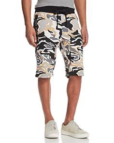 True Religion - Camouflage Print Sweat Shorts