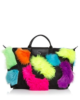 Longchamp - x Jeremy Scott Faux-Fur Trim Travel Bag